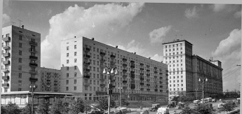 Варшавское шоссе в районе «Тульской». 1962 год.