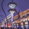Чайный дом Перлова с новогодним украшением улиц