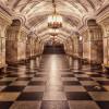 Безлюдное метро в Москве