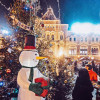 Праздничная атмосфера на Красной площади