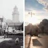 Площадь у Киевского вокзала раньше и сейчас.